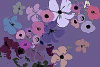 מיקס פרחים גווני סגול