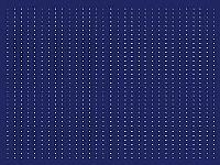 מפת שולחן בגוון כחול עם שורות נקודות לבנות