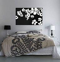 מיקס פרחים שחור לבן