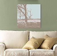 הדפס של עץ מסדרת אלכסנדר בגווני חום ותכלת