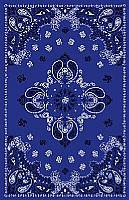 מפת שולחן בעיצוב בנדנה גווני כחול
